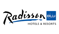 Radisson Blu logo, links to all discounts for Radisson Blu